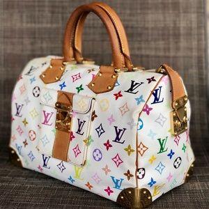 🦄🌈Louis Vuitton Multicolor Speedy 30💕🦄